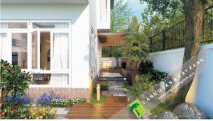 Thiết kế và Thi công Cảnh Quan Sân Vườn Biệt Thự ECOPARK RIVE