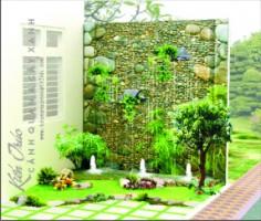 Thi công cảnh quan sân vườn nhà phố đẹp Hà Nội.