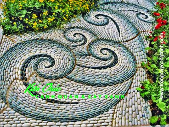 Trang trí sân vườn bằng đá