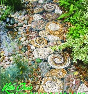 Thiết kế sân vườn bằng các loại đá trang trí