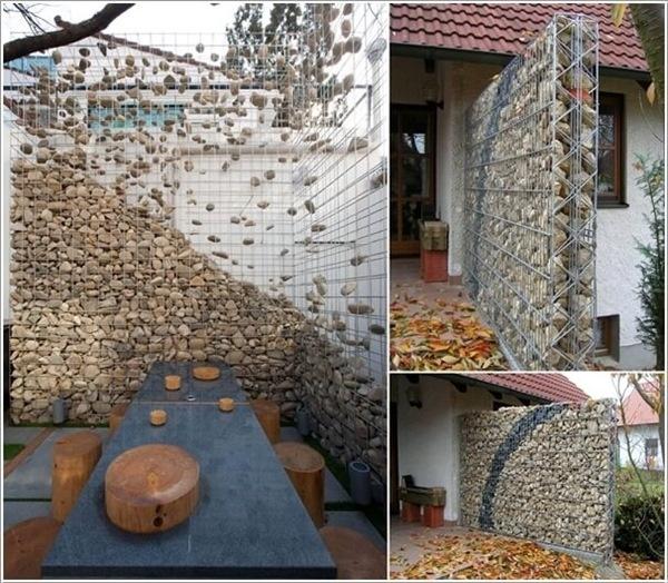 Những bức tường đá thơ mộng, tạo sự tự nhiên cho khu vườn