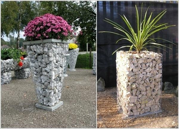 trồng hoa bằng đá, ý tưởng mới lạ, đặc sắc