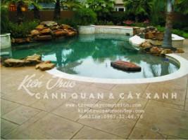Bể bơi kết hợp tiểu cảnh trang trí