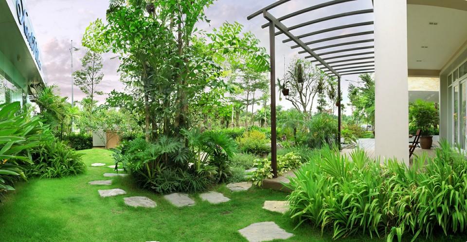Thi công sân vườn nhà anh Phú Long Biên